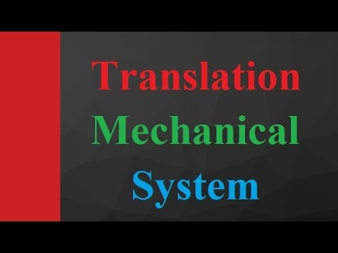 Translational Mechanical System in Control system Engineering by Engineering Funda