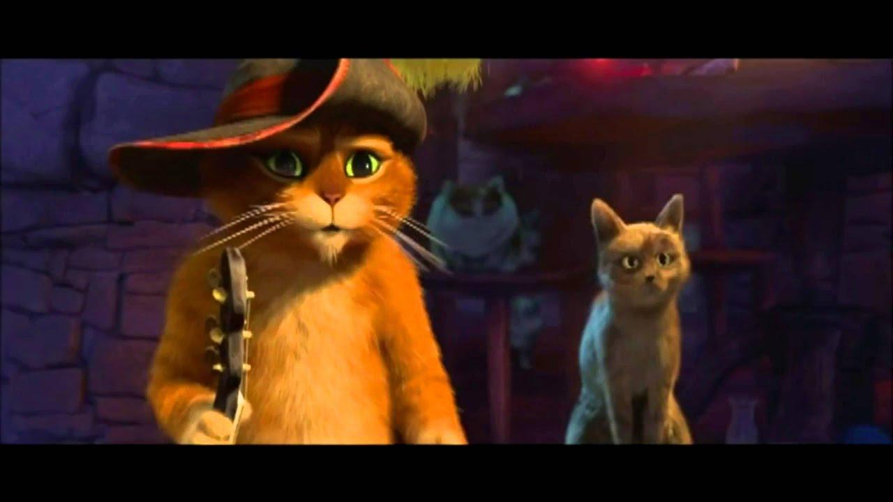 Кот в сапогах на youtube