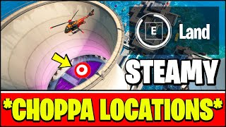 HOW TO LAND A CHOPPA AT THE BOTTOM OF A STEAMY STACKS & CHOPPA LOCATIONS SEASON 3 (Fortnite Week 3)