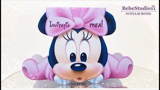 Invitatii Botez Minnie Mouse - Baby Shower Invitations Minnie & Mikey Mouse