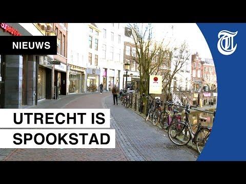 Spookstad Utrecht: zo leeg zijn de straten