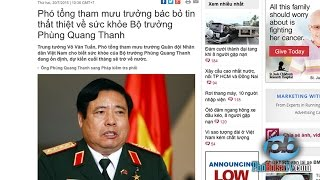 Truyền thông trong nước đăng tin bác bỏ tin tức về sự qua đời của Bộ trưởng QPVN