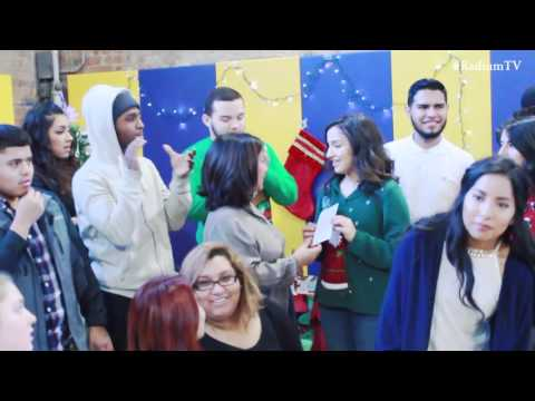 Curie Metropolitan High School Students Visit Gads Hill Center for 2015 Toy Drive