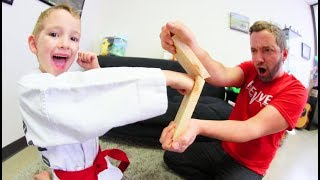 Father & Son BREAKING KARATE BOARDS PRACTICE!