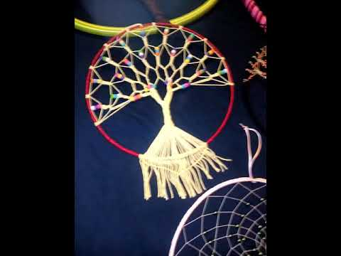 attrape r ve arbre de vie dream catcher youtube. Black Bedroom Furniture Sets. Home Design Ideas