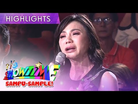 Vicky Belo gets emotional as she comments about Vice's performance | It's Showtime Magpasikat 2019