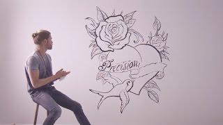 Tatueraren Chris Jansson skapar en magisk vägg med Anzas Platinum P...