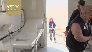 Temporary medical clinic opens on Jordan-Syria border