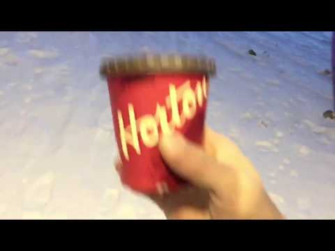 Hot Tim Horton's coffee vs -41 Timmins, ON Weather