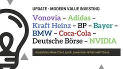 Vonovia – Adidas – Kraft Heinz – BP – Bayer – BMW – Coca-Cola – Dt. Börse – NVIDIA - Update
