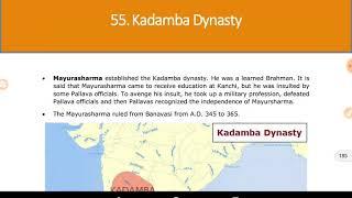 Ancient history.. Chapter 55..Kadamba dynasty..