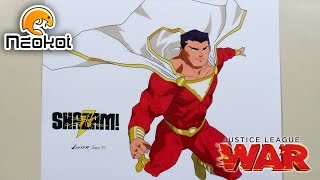 Drawing Shazam | Dibujando a Shazam (Justice League War)