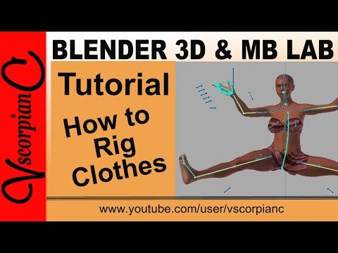 Blender 3d Tutorial - How to Attach ManuelBastioni Clothes Method 1 by VscorpianC