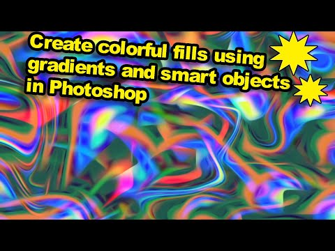 Photoshop tutorial : Use gradient layers and smart objects to create colorful backgrounds thumbnail