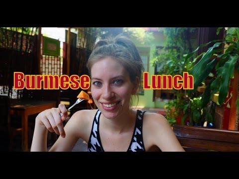 Burmese Food (Burmese Set Lunch at the Mandalay Inn & Restaurant) in Siem Reap, Cambodia