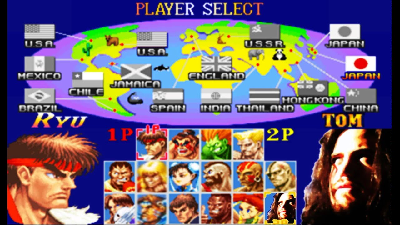 Street Fighter II - Character select (2) - YouTube