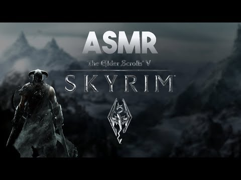 ASMR Gaming: Starting Skyrim! (Gum Chewing)