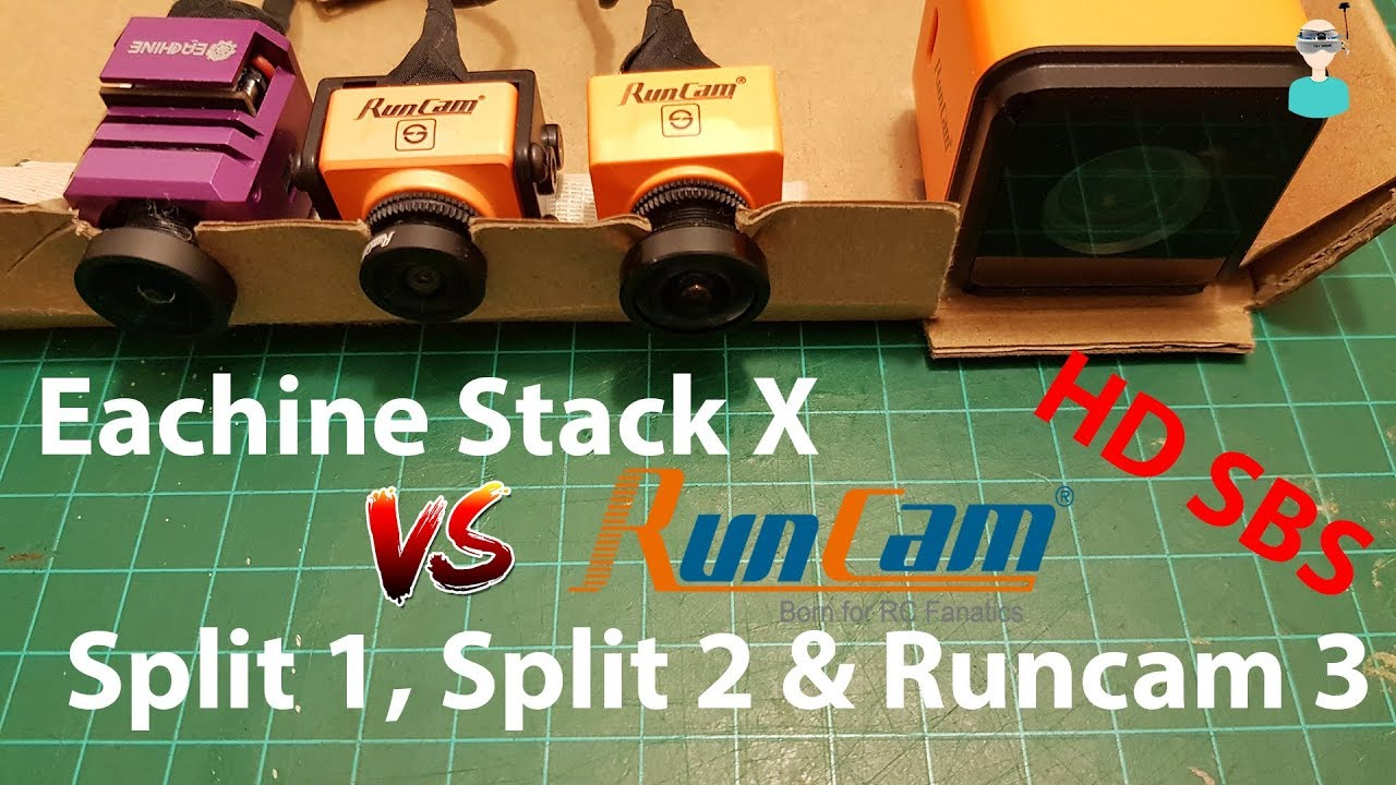 eachine stack x hd sbs comparison with runcam split 1 split 2 runcam 3 youtube. Black Bedroom Furniture Sets. Home Design Ideas