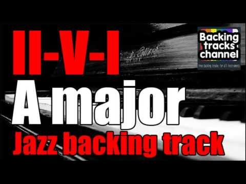 Jazz swing backing track - 2-5-1 - A major