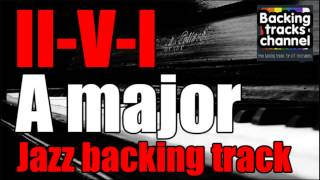 Jazz swing backing track 2-5-1 A major