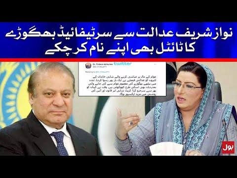 Firdous Ashiq Awan stated Nawaz Sharif as Bhagora