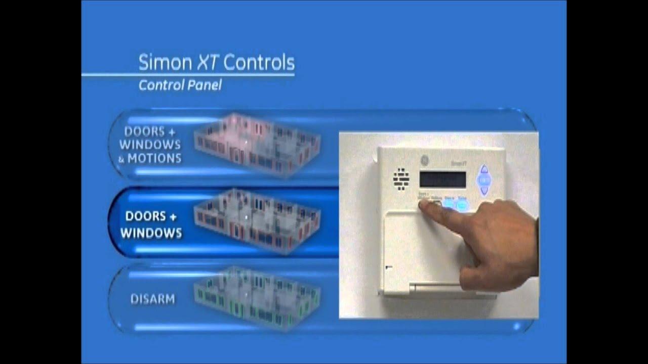 How To Use Simon Xt Alarm System Youtube