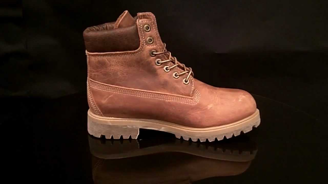 Timberland 6 Inch Premium Burnt Orange Boot 27094 Youtube
