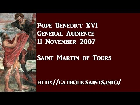 Pope Benedict XVI: Saint Martin of Tours