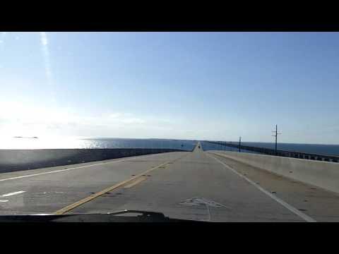 Driving Overseas Highway US 1 to Key West HD