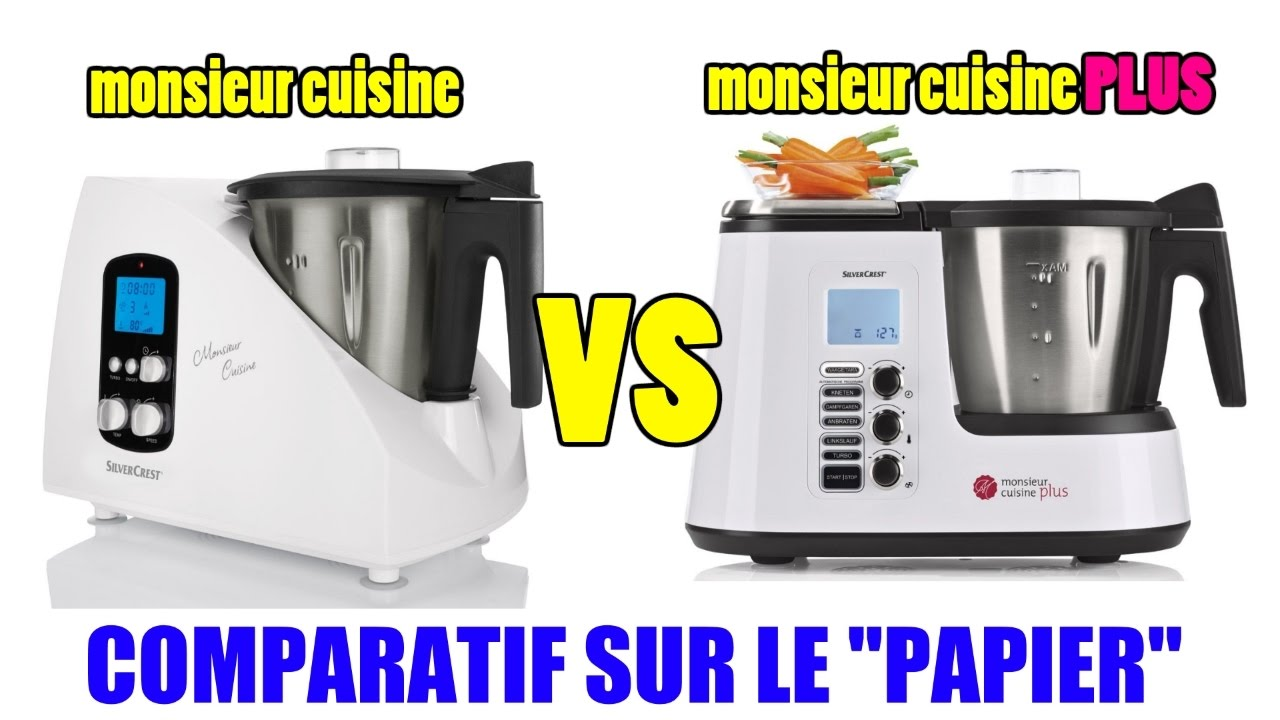 Monsieur cuisine plus lidl silvercrest skmk 1200w vs for Robot menager monsieur cuisine plus
