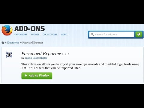 Password Exporter - Exports Saved Passwords For Mozilla Firefox