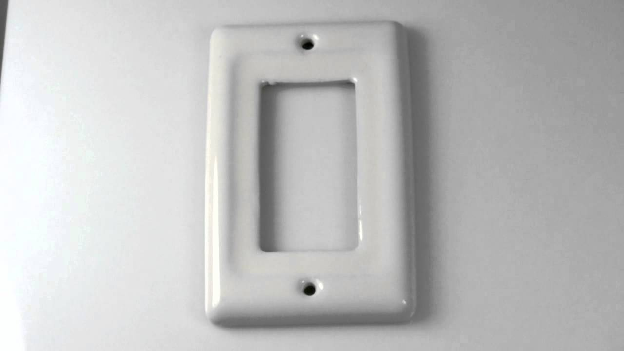 Rocker Switch Plate Pleasing Bone Porcelain Single Rocker Switch Plate  Youtube Decorating Inspiration