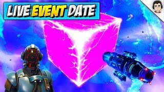 *NEW* CUBE OPENING EVENT! (OFFICIAL DATE) Fortnite Season 6 LIVE Cube Exploding RELEASE DATE & TIMES