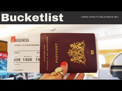 Business Class vliegen in A380 vliegtuig // BUCKETLIST #1 // Your Little Black Book