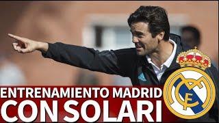 Primer entrenamiento de Solari con el Real Madrid, en directo | Diario AS