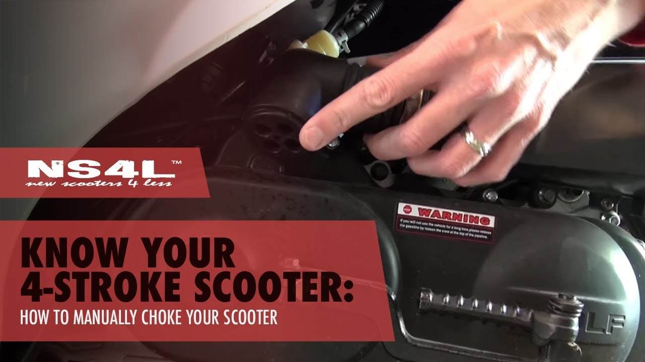 scooter won t start manually choke your scooter [ 1280 x 720 Pixel ]