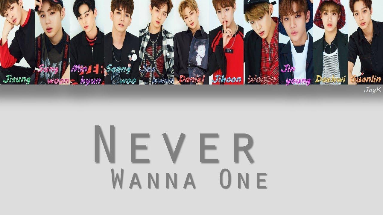 Wanna One (워너원) -  Never [HAN/ROM/ENG] (Color Coded Lyrics)