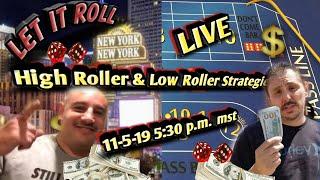 High Roller & Low Roller Craps Strategies Live