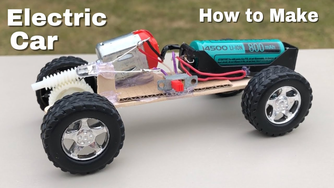 Diy Mini Electric Car How To Make A Toy Car Youtube