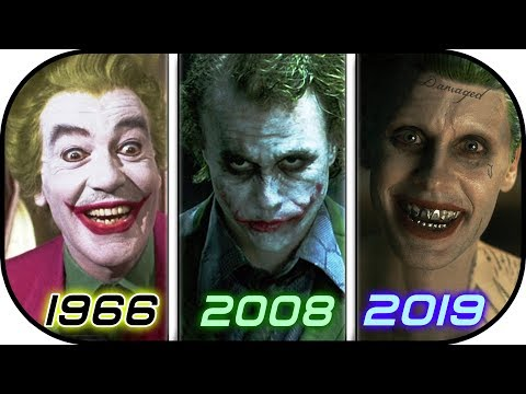 EVOLUTION of JOKER in Movies TV 1966-2019 History of The Joker 2019  Suicide Squad 2 2019 trailer