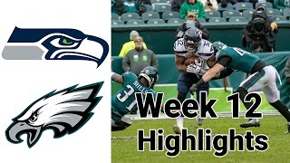 Monday Night Football Seahawks vs Eagles Highlights Full Game | NFL Week 12