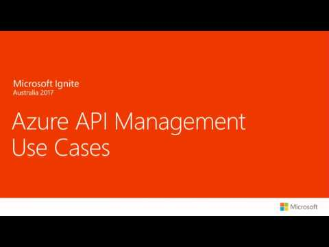 Australia 2017 Azure API Management Dive Deep