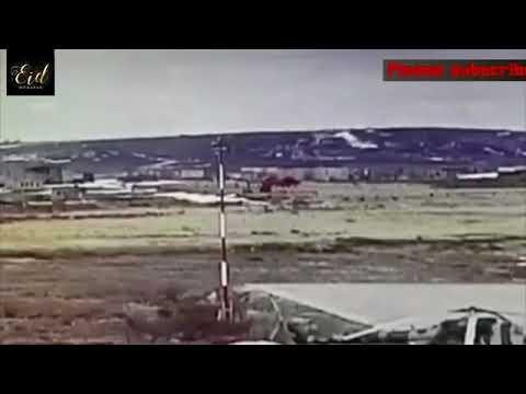 Rusya'da Düşen Helikopterin Görüntüsü