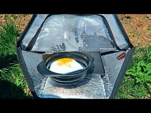 Mini Portable Solar Oven Test