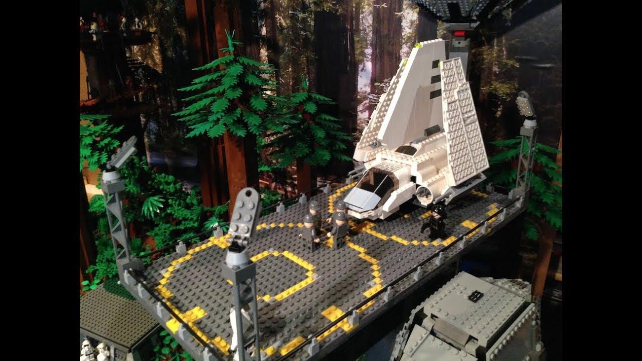 Lego Star Wars Big Endor Moc Base Youtube