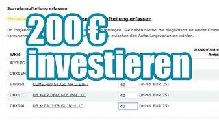 Wie ich 200 € in einen Wertpapiersparplan investiere - Aktienhandel mit wenig Kapital