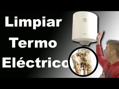 Clean electric water heater accumulation of lime