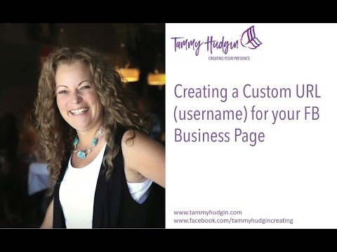 How to make a facebook page username