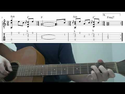 Hostage (Billie Eilish) - Easy Fingerstyle Guitar Playthrough Tutorial Lesson With Tab