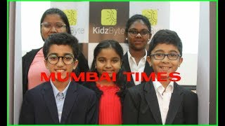 India's first App - based kids Knowledge Channel 'KidzByte TV' launched in Mumbai.